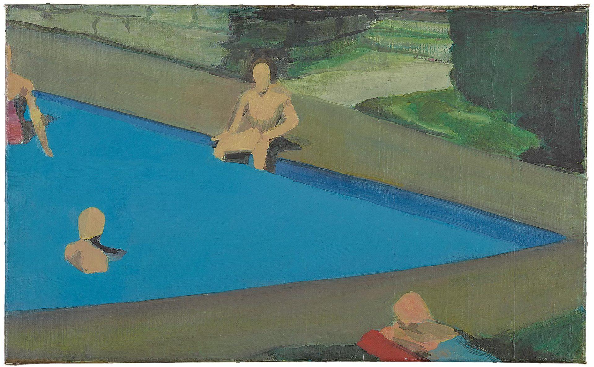 The Swimming Pool, 1990 - (c)Studio Luc Tuymans